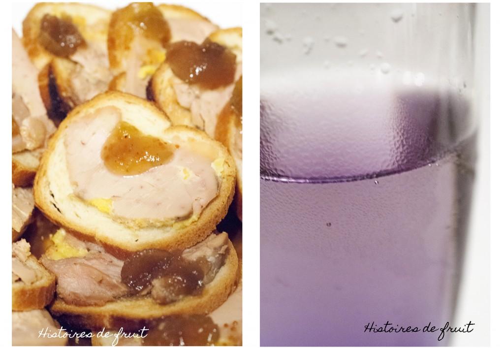 Noël 2012 - apéro (2) : toasts de betterave au roquefort et noix