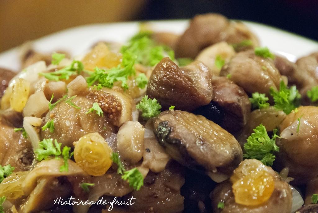Noël 2012 - méli-mélo de marrons, figues et raisins au porto