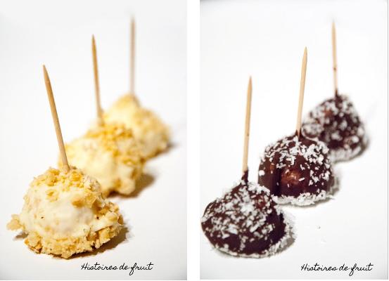Mini-pommes d'amour au chocolat