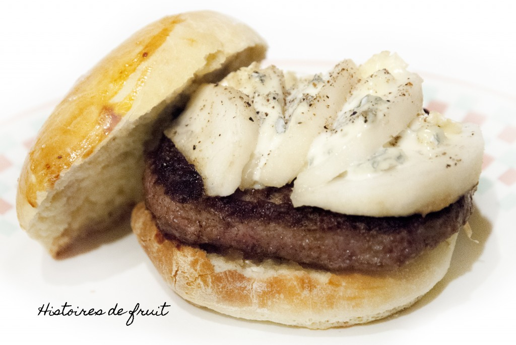 Hamburger Bleu de Bresse et Poire {recette des Buns}