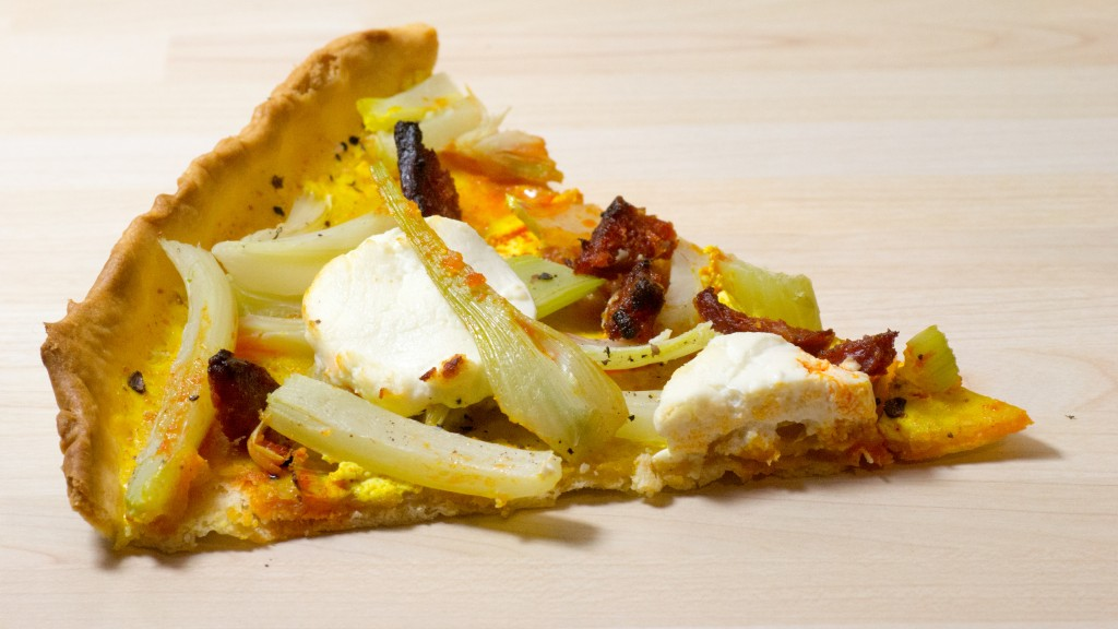 tarte légère fenouil, chorizo et chèvre frais