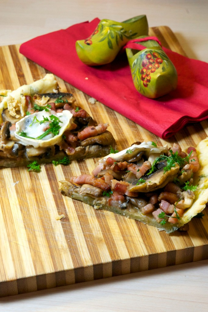tarte champignons et fromage de chèvre