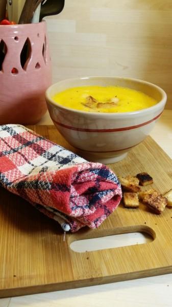 Soupe au potiron de mon enfance et croutons [Battle Food #16]