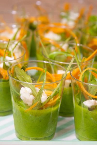 Gaspacho vert façon jardinière de légumes