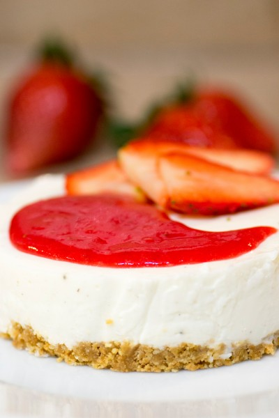 Cheesecake léger à la fraise [Battle Food #30 - American Dream Food]