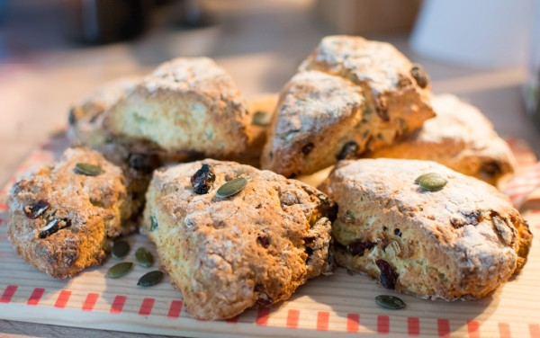 Scones aux graines de courges et cranberries [Battle Food #31]