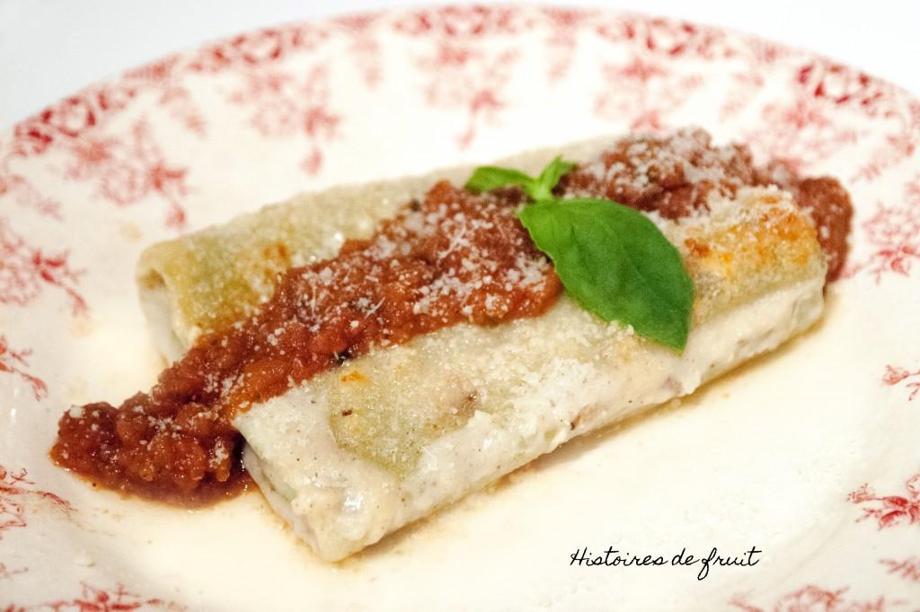 Cannellonis ricotta épinards et leur sauce tomate au basilic {garniture facile !}