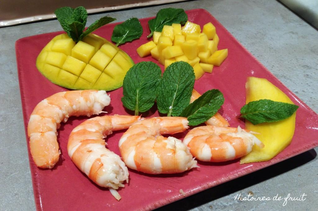 Crevettes mangue et menthe : trio gagnant pour entrée facile