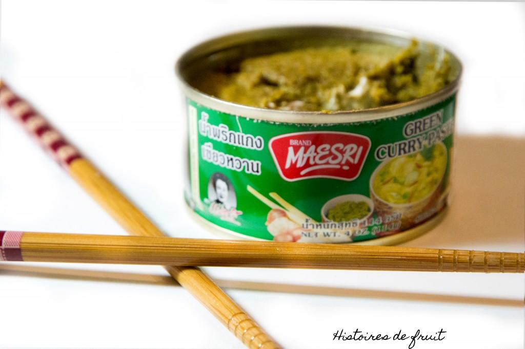 Curry vert de poulet, papilles sensibles s'abstenir