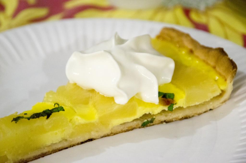 tarte menthe-ananas aux saveurs d'été