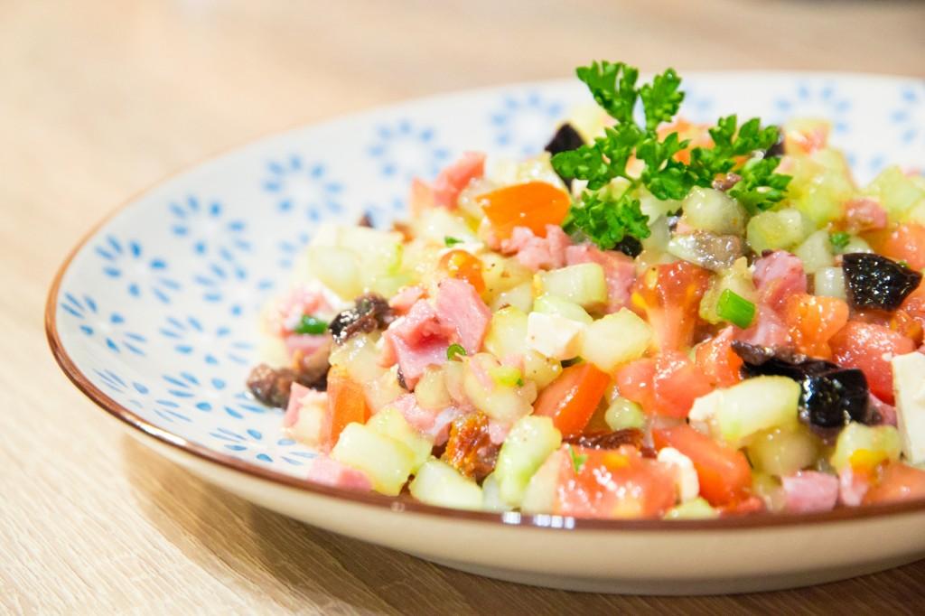 Salade fraicheur de petit cubes