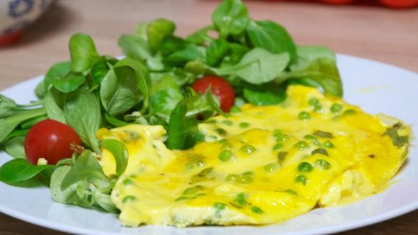 La fameuse omelette aux petits pois
