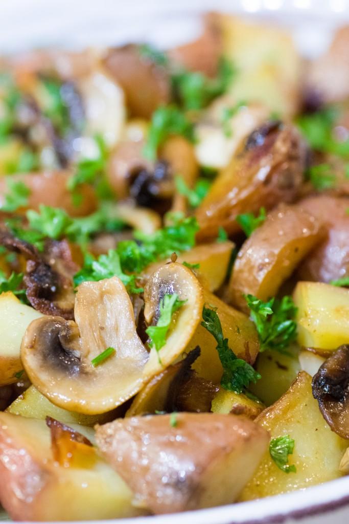 Pommes de terre sarladaises aux champignons